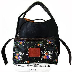 COACH 86760 BANDIT Black Leather Hobo Bag